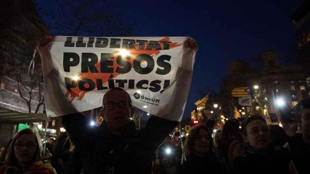 Imagen de la huelga general del 3 de octubre de 2017 en Cataluña.