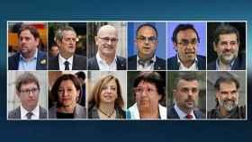 os 12 acusados del juicio del 'procés'