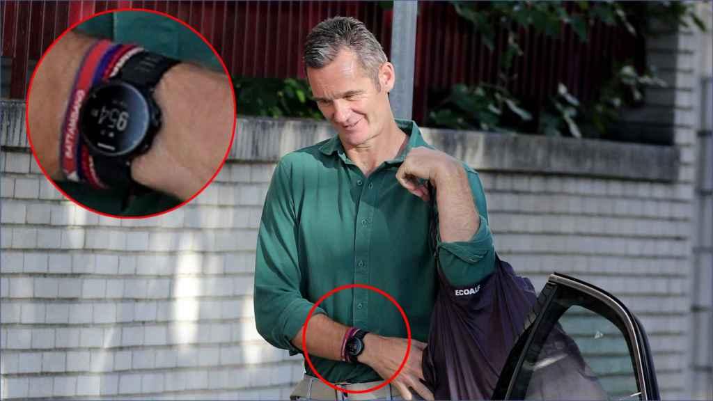 Detalle del reloj de la marca Garmin que acompaña a Urdangarin durante sus salidas de la cárcel.