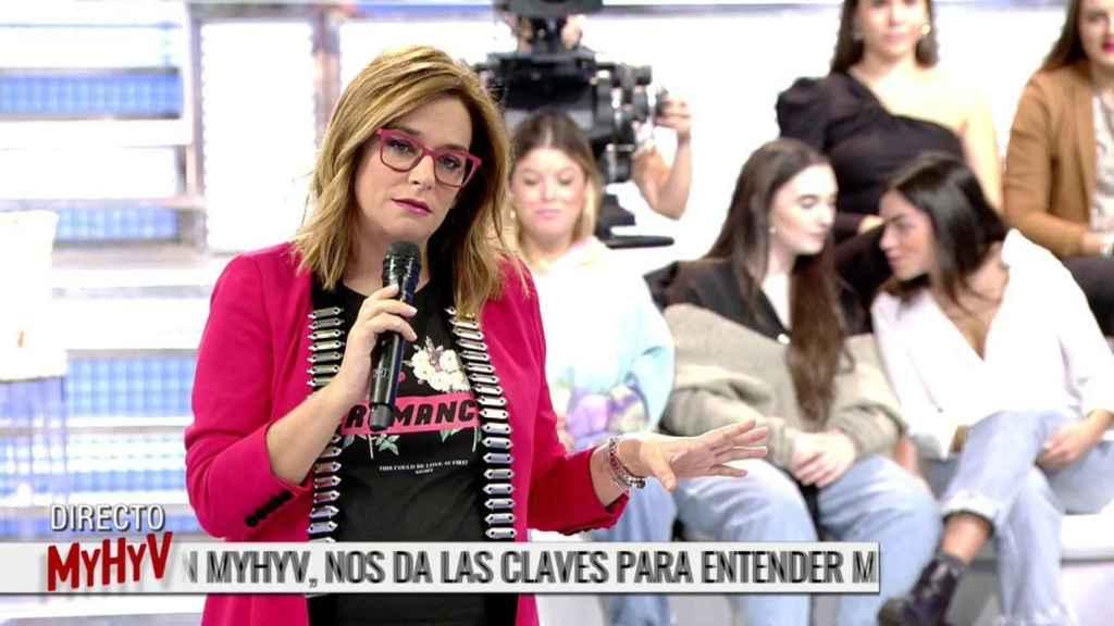 Toñi Moreno durante un programa de 'Mujeres y Hombres y Viceversa'.