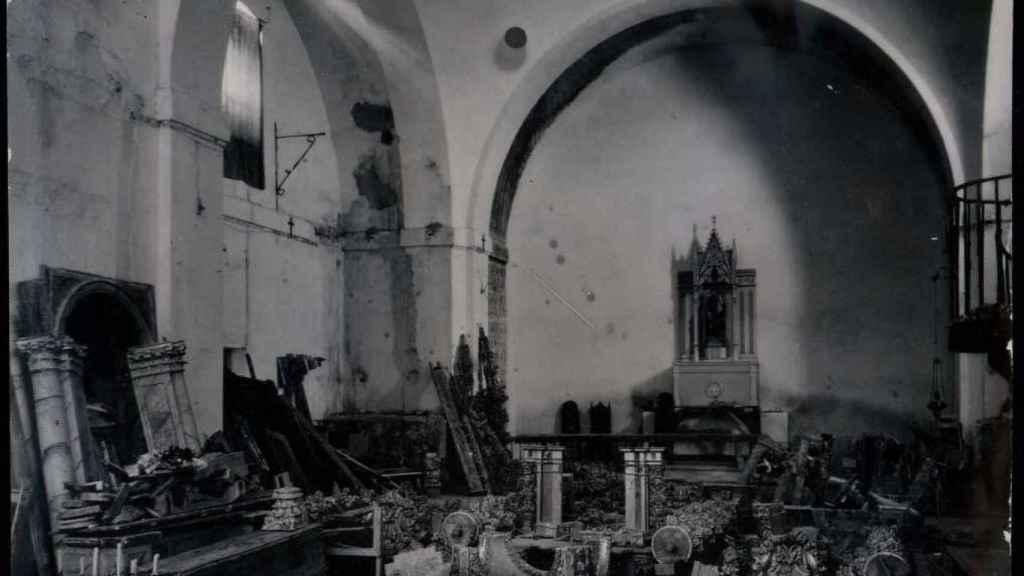 Iglesia destruida en Yuncos (Toledo).