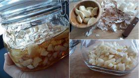El brebaje elaborado con ajos y miel que supuestamente cura el catarro gracias a su poder 'antibiótico'.
