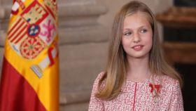 La princesa Leonor de Borbón durante la entrega de Medallas al Mérito Civil.