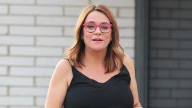 Toñi Moreno en una imagen reciente a las puertas de las instalaciones de Mediaset.