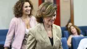 Carmen Calvo, vicepresidenta del Gobierno, y María Jesús Montero, titular de Hacienda.