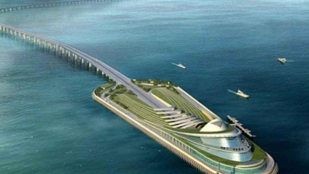 La isla central del túnel, según la empresa estatal china Touchstone