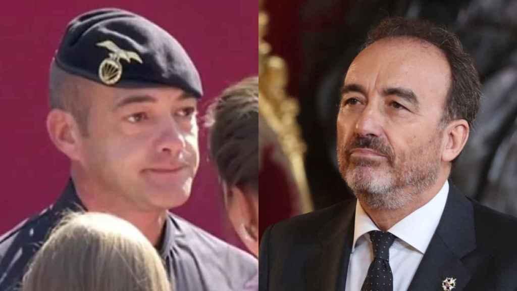 El cabo Pozo y el juez Manuel Marchena.