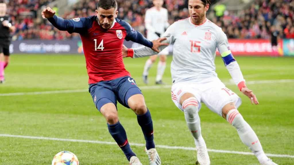 Sergio Ramos, contra Noruega