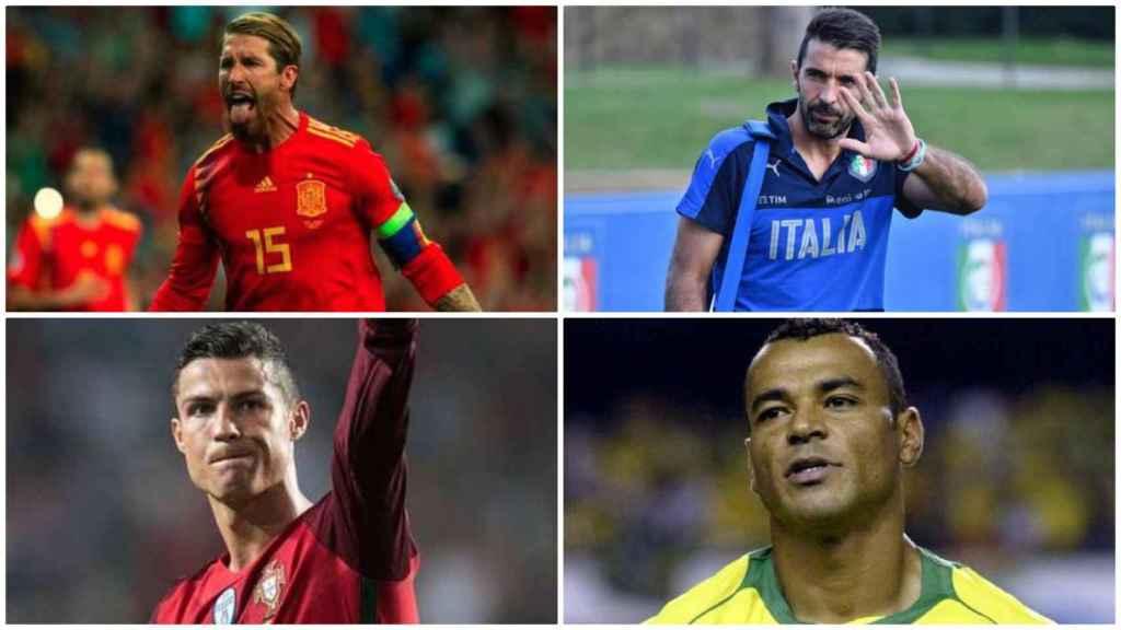 Ramos, Buffon, Cristiano Ronaldo y Cafú