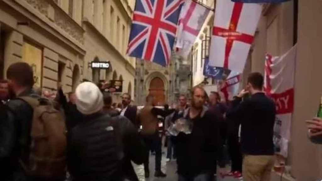 Hooligans en Praga.