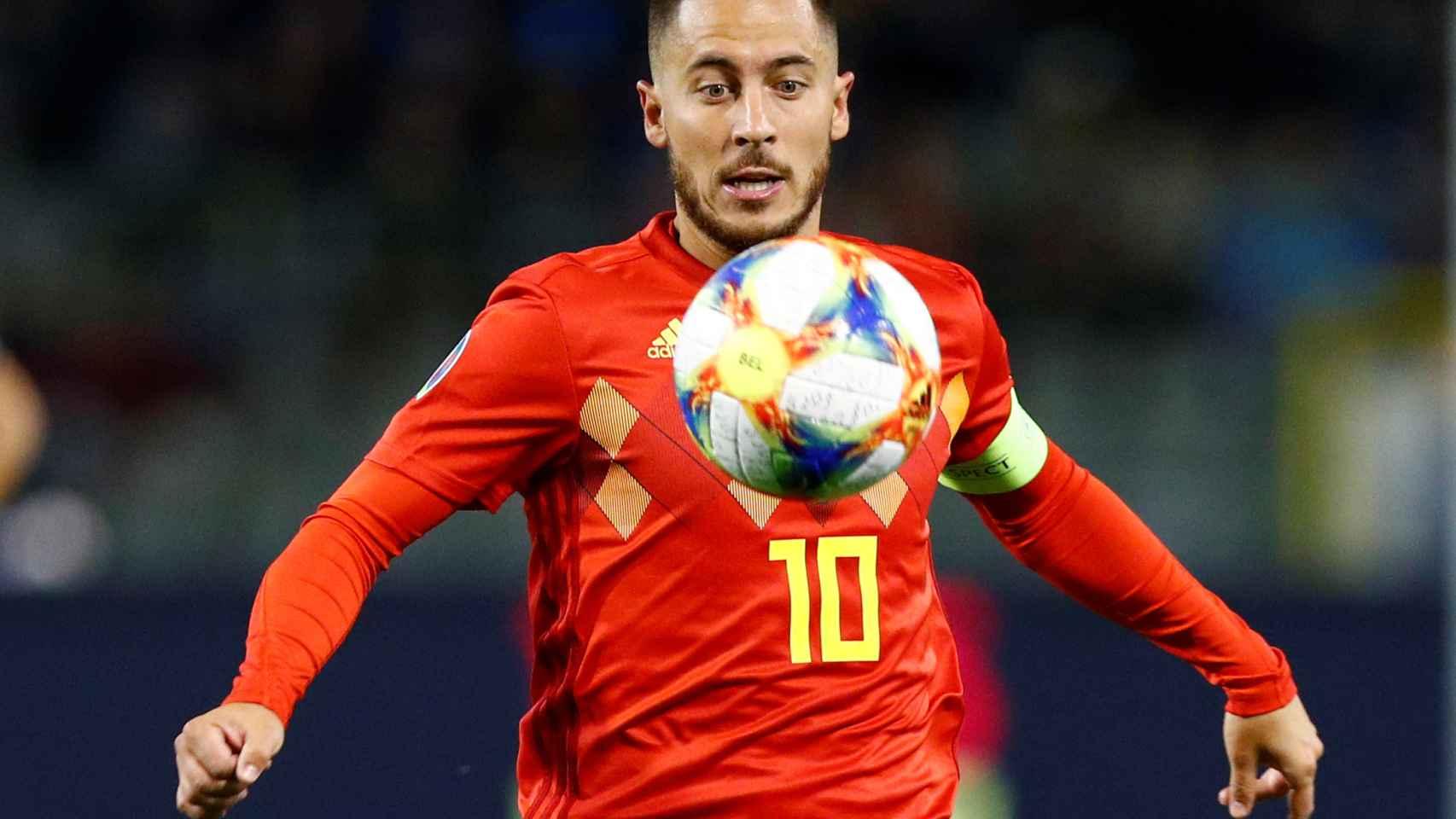 Hazard, con Bélgica