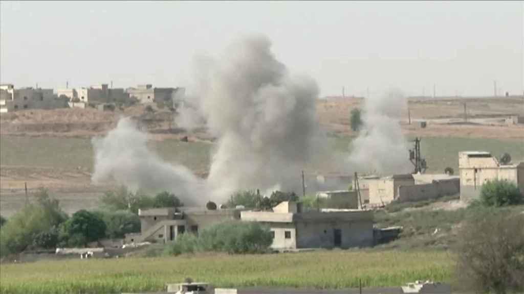 Ofensiva del ejército turco en la ciudad siria deTel Abyad.