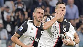 Cristiano celebrando un gol con la Juventus