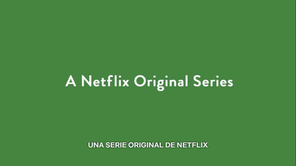 Cartela de 'Serie original de Netflix' en The good place.