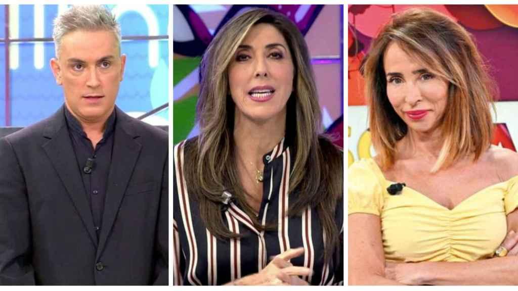 Kiko Hernández, Paz Padilla y María Patiño en montaje JALEOS.