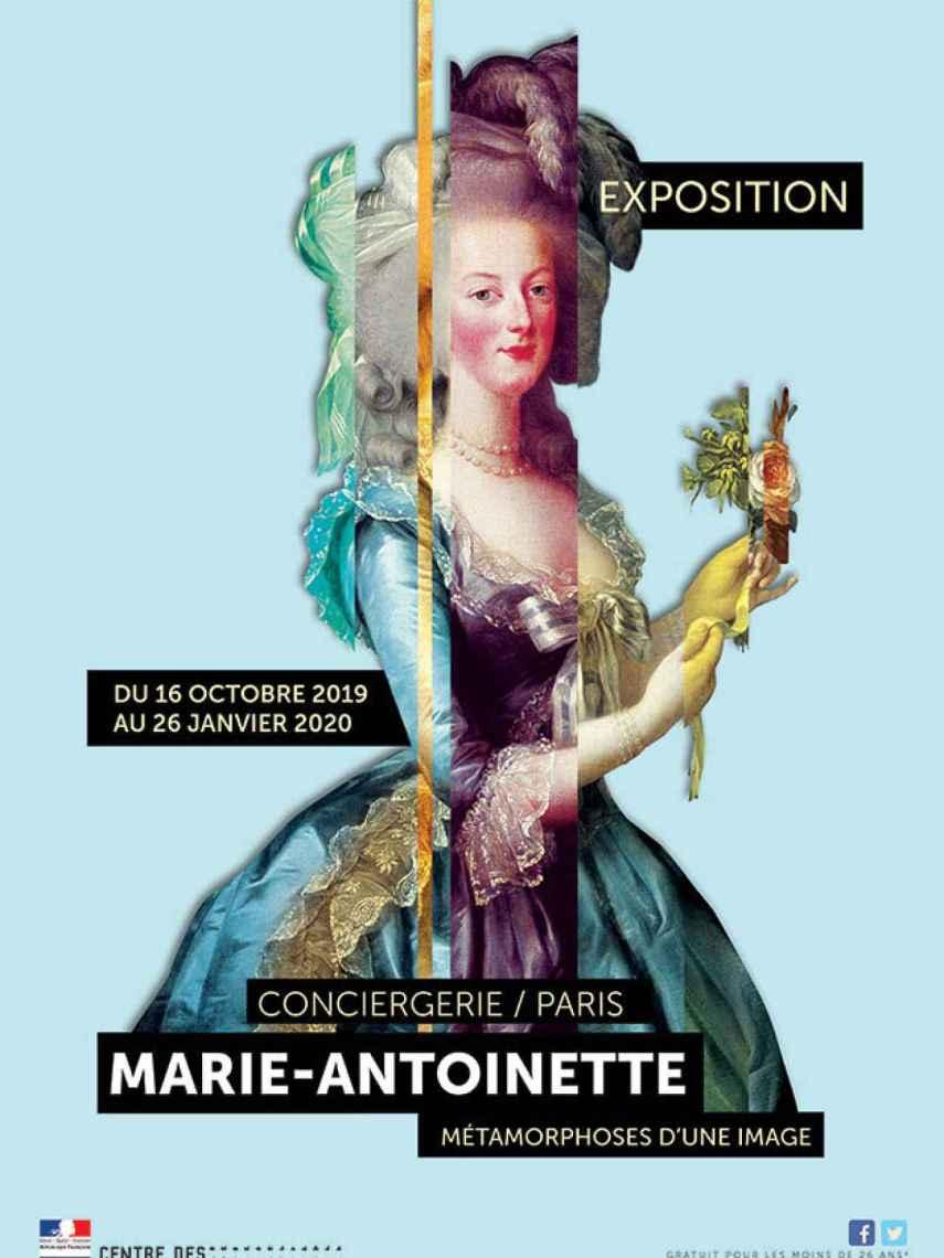Cartel de la exposición de María Antonieta en París.