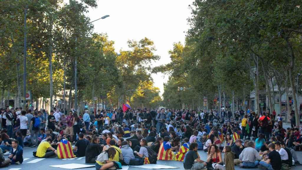 Muchas de las manifestaciones celebradas esta semana han sido convocadas desde Tsunami Democràtic.