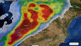 Previsión de lluvia para la mañana del jueves.