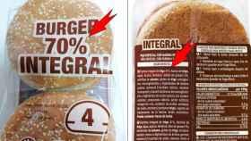El pan de hamburguesa 70% natural de Hacendado solo tiene un 41% de harina integral