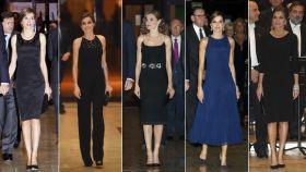 Todos los 'looks' de Letizia en el concierto previo a los Princesa de Asturias desde que es Reina.