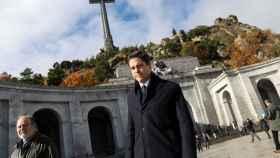Luis Alfonso de Borbón en el Valle de los Caídos el pasado 20 de noviembre.