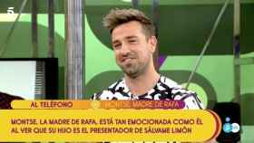Rafa Mora durante su debut como presentador en 'Sálvame'.