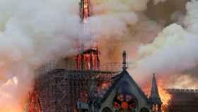 Espectacular imagen del incendio en Notre Dame.