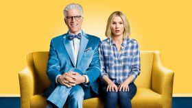 Fotograma de The good place, serie de CBS que Netflix anuncia como Original.