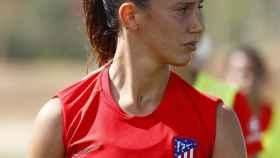 Virginia Torrecilla, en un entrenamiento del Atlético de Madrid