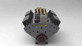 Parece un motor V8, pero es un motor eléctrico para coches clásicos