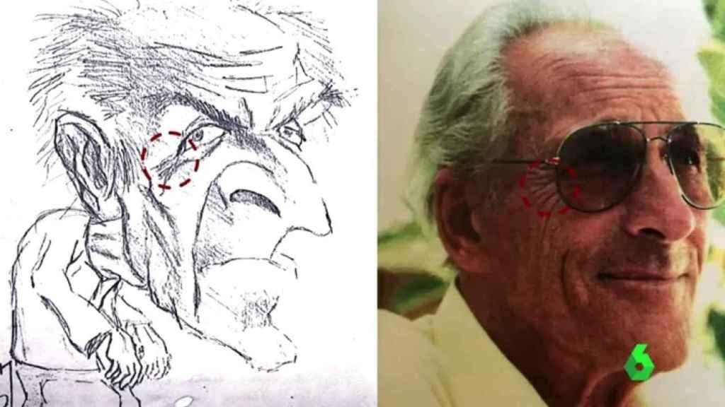 La caricatura del hombre suizo que pudo hacer David Guevara.