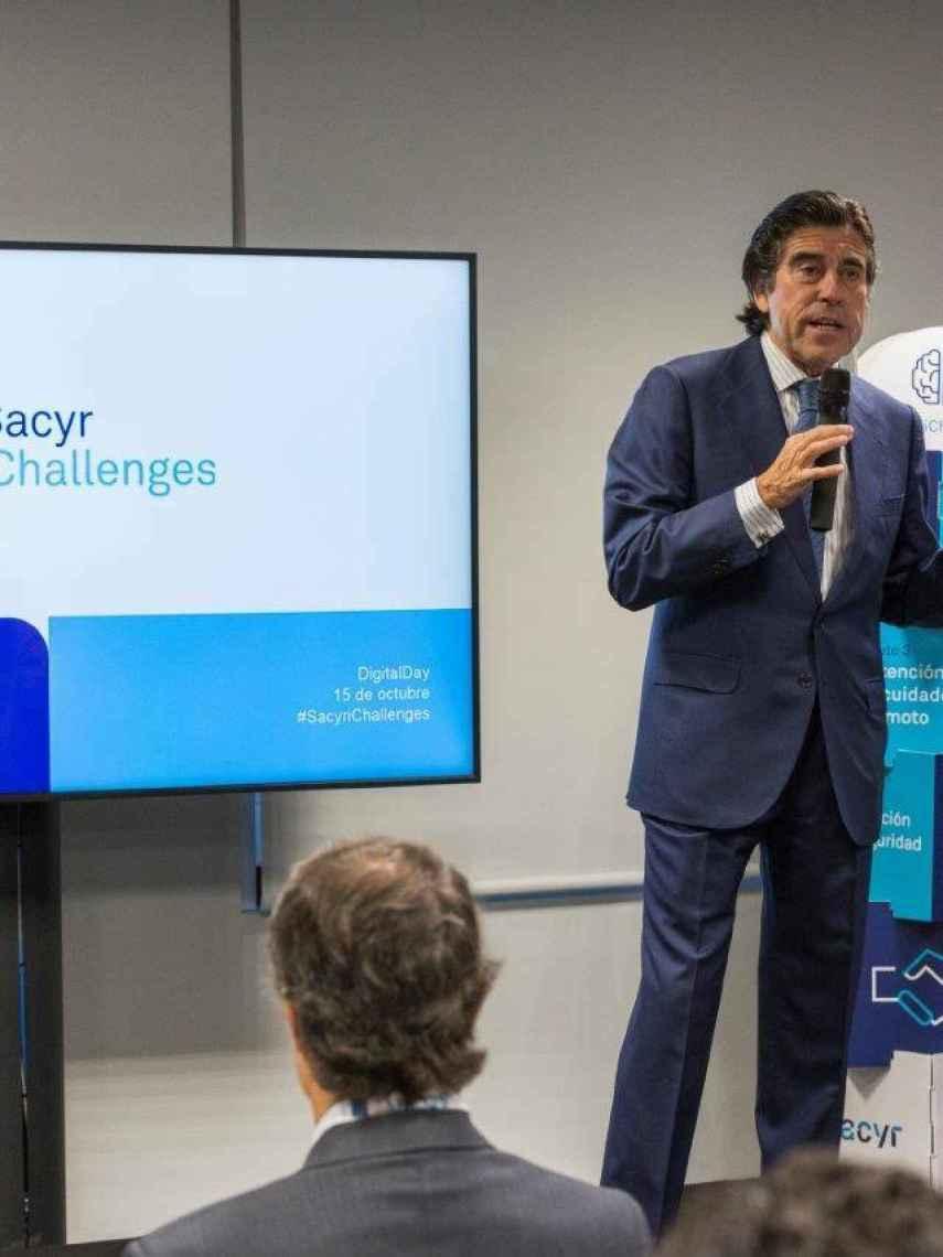 Manuel Manrique, presidente de Sacyr, durante la presentación del Digital Day.