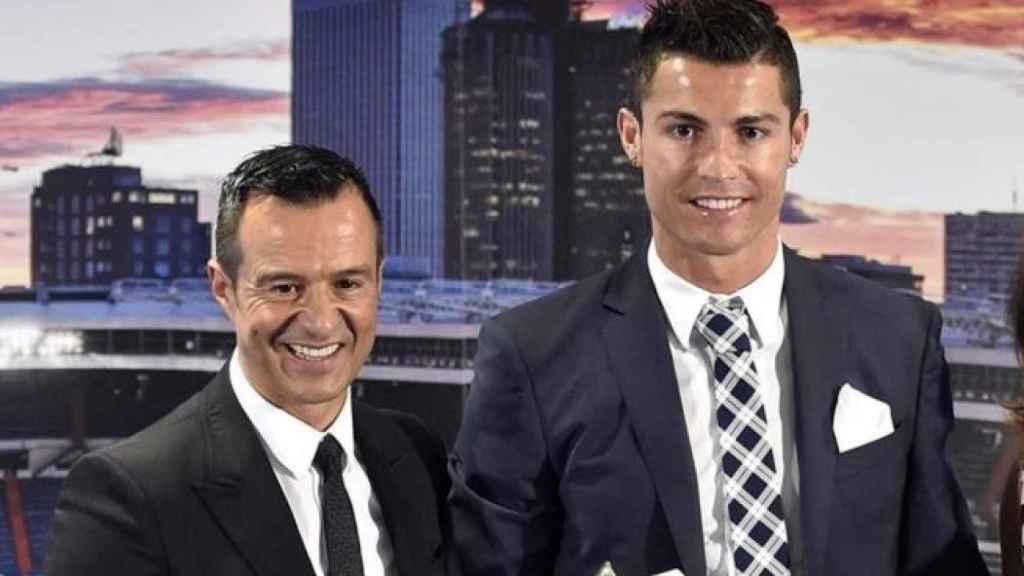 Jorge Mendes junto a Cristiano Ronaldo