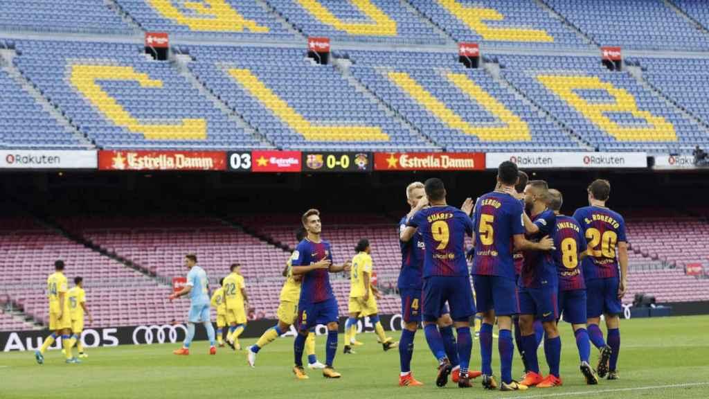 Partido Barcelona - Las Palmas disputado el 1 de octubre de 2017 a puerta cerrada.