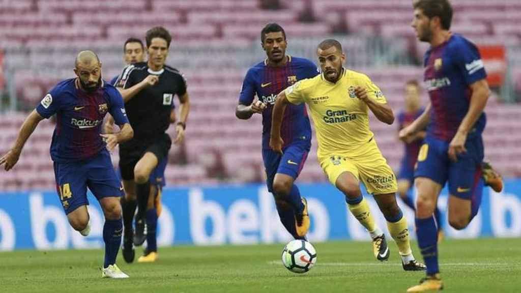 Barcelona - Las Palmas disputado a puerta cerrada el 1 de octubre de 2017.