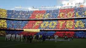 Clásico en el Camp Nou entre Real Madrid y Barcelona.