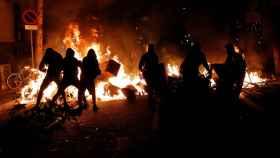 Las protestas de Barcelona causaron más de media docena de fuegos
