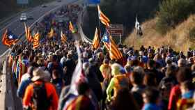 Marchas por la libertad, una de las últimas acciones que desarrollan los independentistas como protesta por la Sentencia del 'procés'.