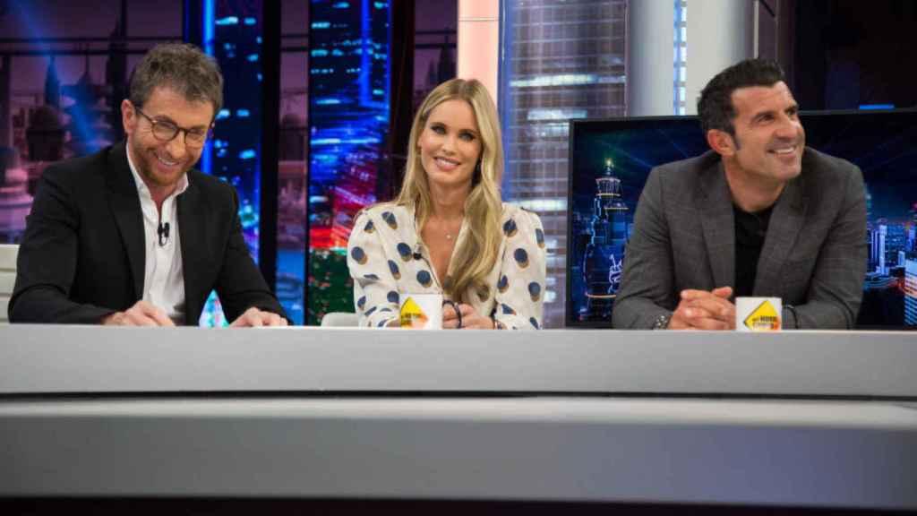 Pablo Motos, Luis Figo y Helen Sviden en una imagen de Antena 3.
