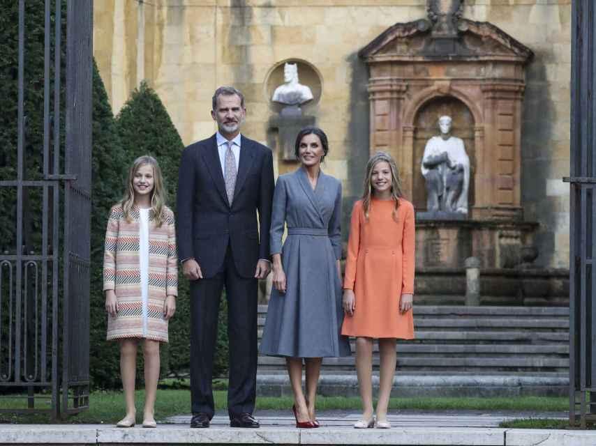 La Familia Real en Oviedo.
