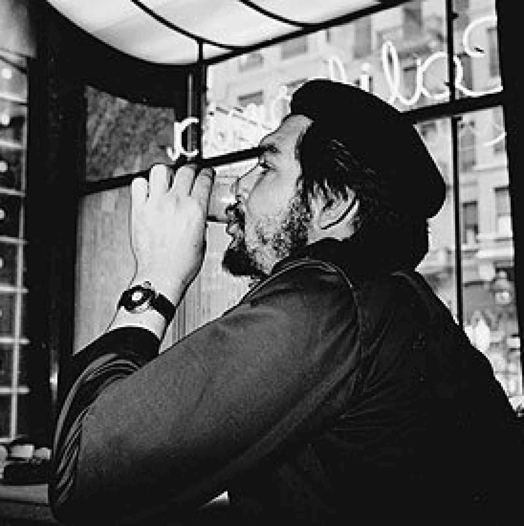 Ernesto Che Guevara, en la cafetería California, en la Gran Vía de Madrid.