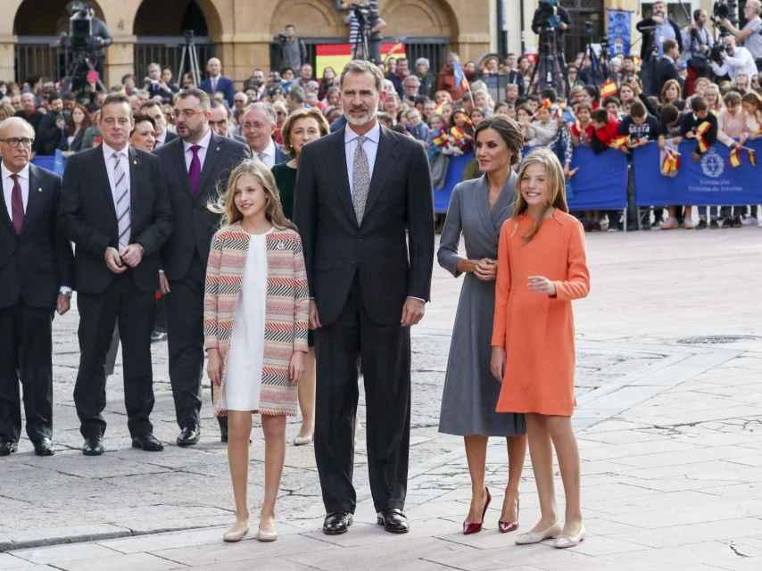 La Familia Real en Asturias.