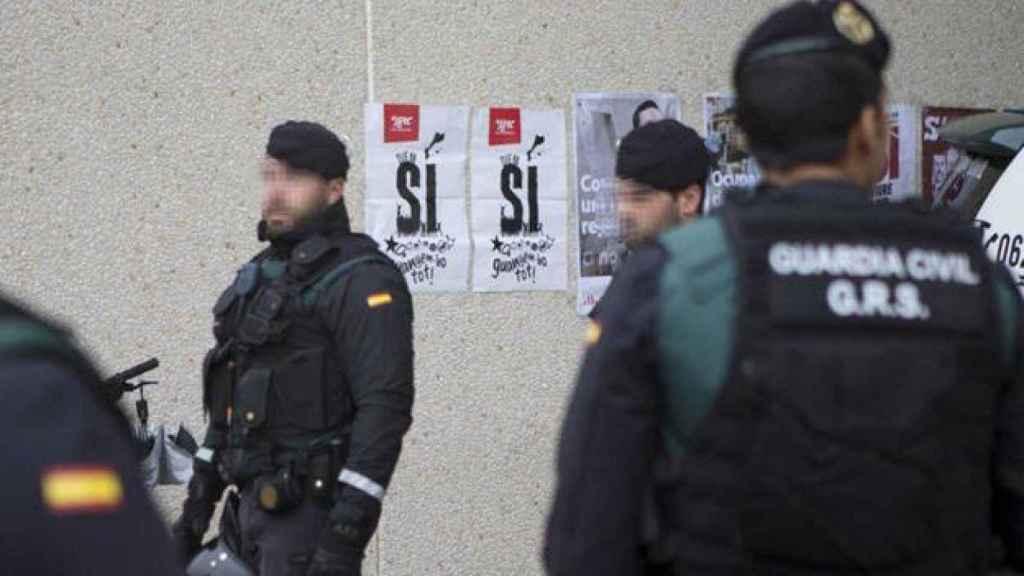 GRS de la Guardia Civil desplegados en Cataluña en una imagen de archivo.