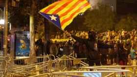 Disturbios que tuvieron lugar en Barcelona en el mes de octubre.