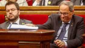 Quim Torra y Pere Aragonés  el Parlament