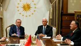 Erdogan y Pence este jueves en Ankara