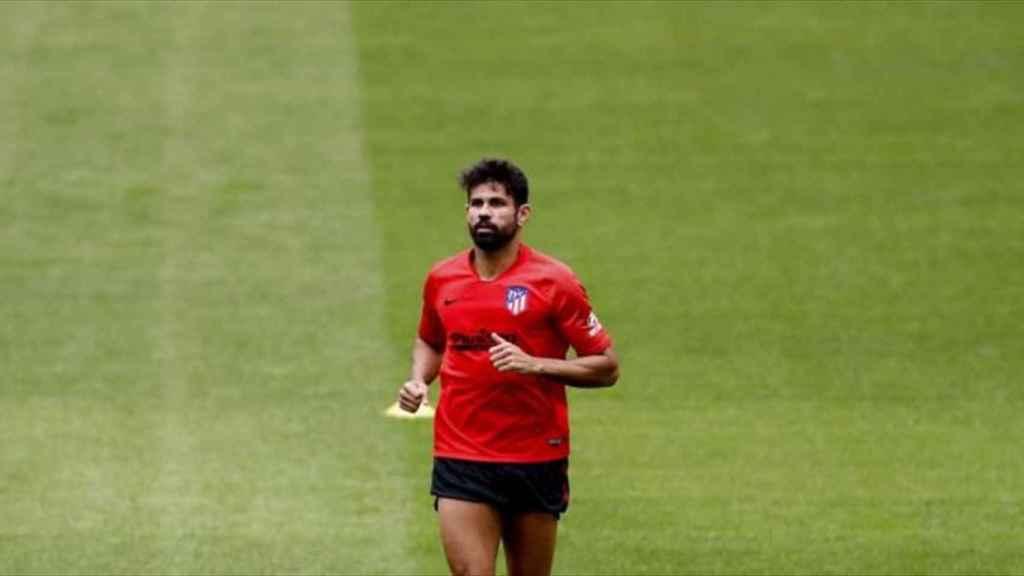 Diego Costa, en un entrenamiento