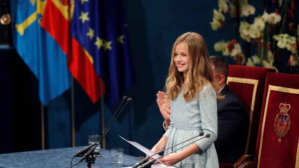 La princesa de Asturias, Leonor de Borbón.