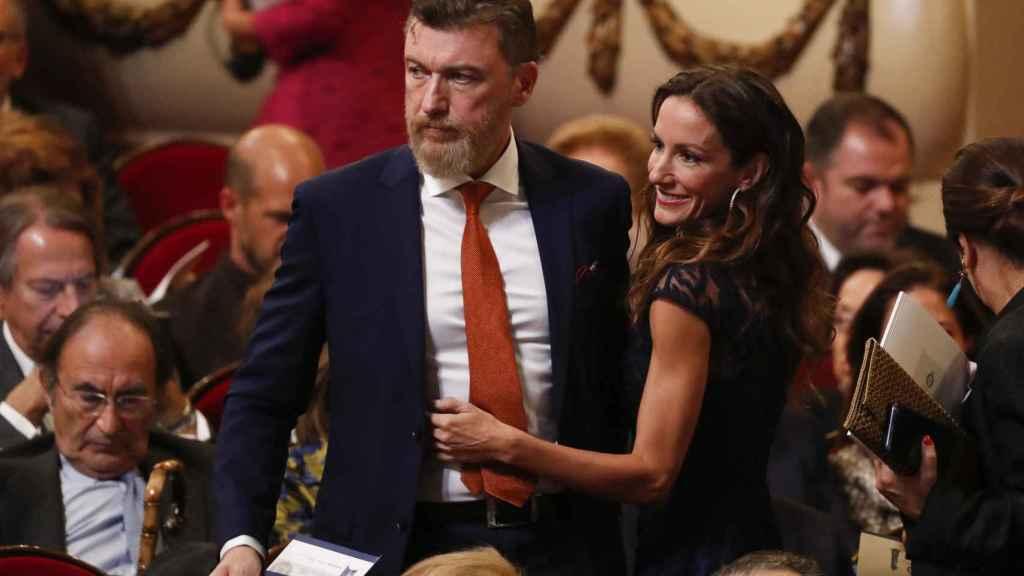 Telma Ortiz y su pareja, el irlandés Robert Gavin.