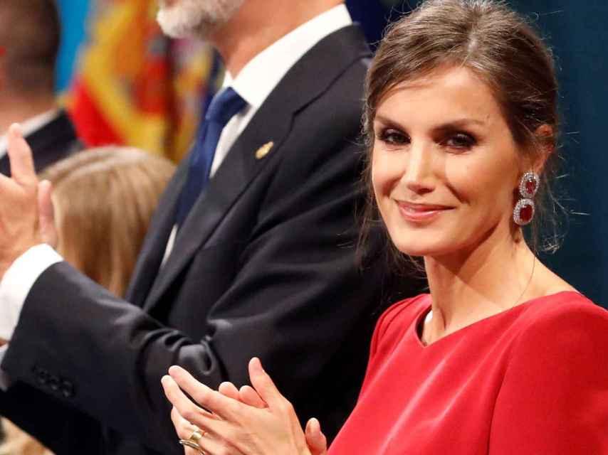 Los reyes Felipe y Letizia durante la ceremonia de entrega de los Premios Princesa de Asturias 2019.